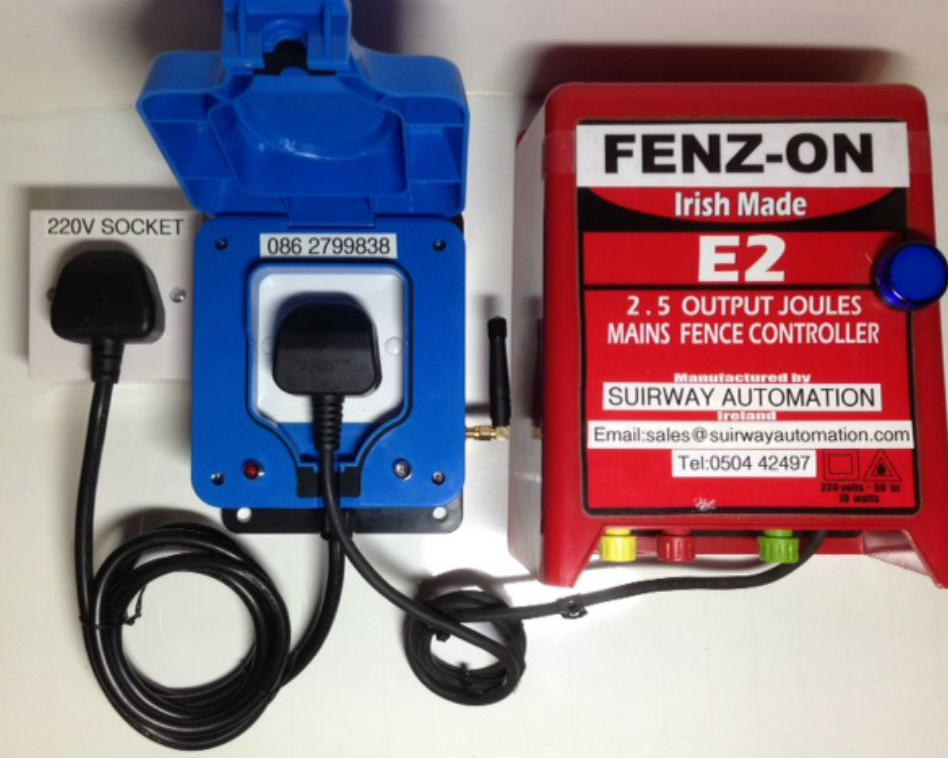 Fenz on suirway automation fenz on fenz on is ready to use out of the box and very easy to set up fenz on will work with any electric fence and is set up as shown in the picture below sciox Choice Image