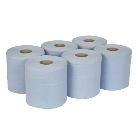 2 Ply Paper Blue 6 pack